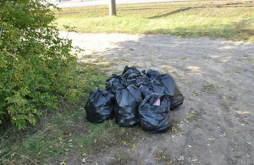 Як «Азов» на узвозі Весніна сміття прибрав (ФОТО)