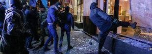 Погром «Ощадбанку» у Києві: з'явилися фото та відео