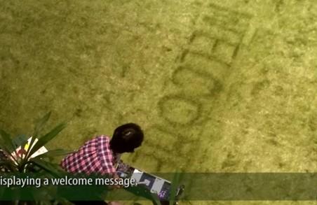 В Японії сконстроювали принтер, який малює на газоні (ВІДЕО)