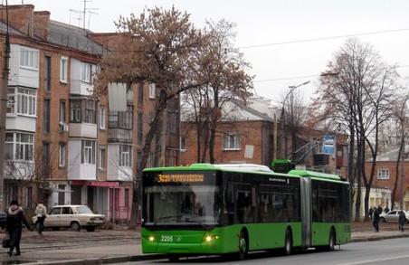 В Харкові знімають з маршруту тролейбус