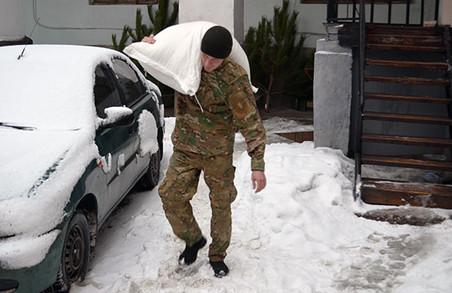 Бійцям батальйону «Харків» в зоні АТО зібрали новорічну гуманітарну допомогу