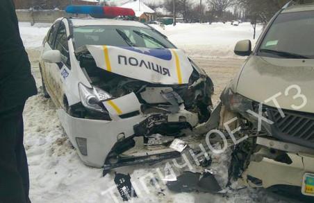 ДТП у Харкові: двоє патрульних опинилися в лікарні