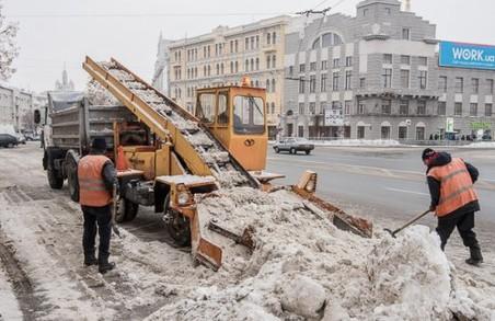 З Харкова щодня вивозять сотні тон снігу