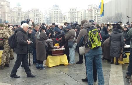 У Києві попрощалися з українськими захисниками, які загинули під Авдіївкою/ ВІДЕО