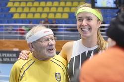 Еліна Світоліна зіграла з найстаршим тенісистом України / Фоторепортаж