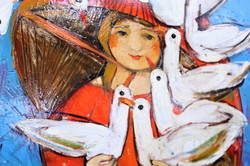 В обіймах «Блакитного фльору»: в Харкові стартувала нова виставка Валентини Самойлик