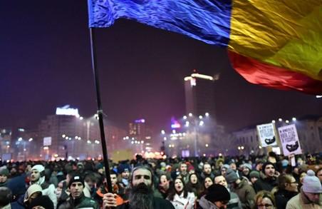 Румунський майдан: живий прапор з українськими мотивами (ВІДЕО)