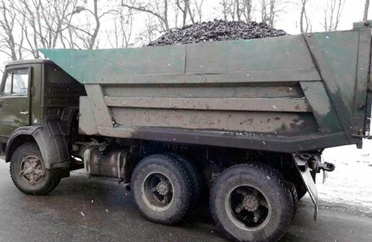 Полиция остановила незаконную перевозку угля