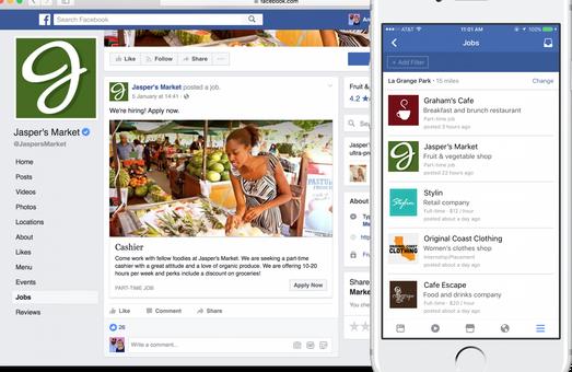 У Facebook поряд з подіями і групами для продажу з'явиться вкладка «Робота» (Jobs)
