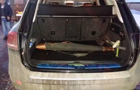 У Пісочині затримано автомобіль зі зброєю/ Фото