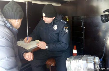 Поліція під Харковом перевіряє пасажирських перевізників/ Фото