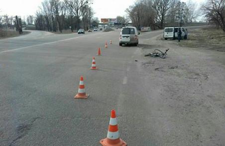 Велосипедист потрапив під колеса Volkswagen/ Фото