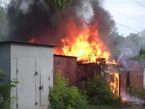 На Основі мало не згоріли гаражі