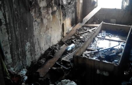 Згоріла квартира на Новобаварії/ Фото