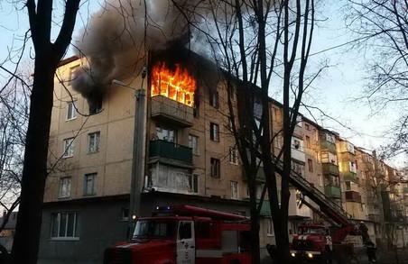 На Франтишека Крала згоріла квартира у п'ятиповерхівці/ Фото