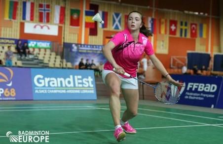 Харків'янка стала другою на чемпіонаті Європи з бадмінтону