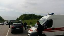 Двоє з 11 постраждалих у масштабному ДТП госпіталізовані/ Фото