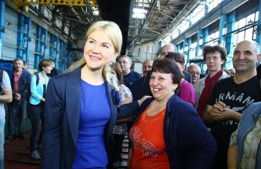 Світлична прогнозує значне зростання зарплат працівникам Харківського тракторного заводу