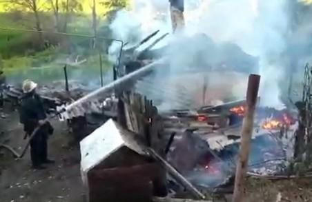 Маленька дівчинка спалила сараї, кухню і 300 кг сіна