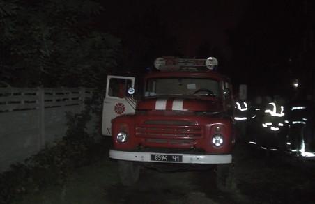 На Олексіївці сталася пожежа: загинула людина/ Фото
