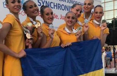 Харківські синхроністки зібрали всі «срібло» юніорського чемпіонату Європи