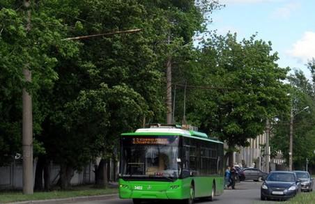 Тролейбус №13 змінить маршрут: розклад на початок серпня