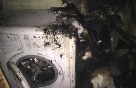 Пральна машина спалила квартиру на Героїв Праці/ Фото