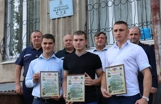 Харківські судді врятували багатоповерхівку від пожежі/ Фото