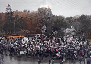 Спілкування Саакашвілі з харків'янами закінчилося його втечею/ Фото, Відео