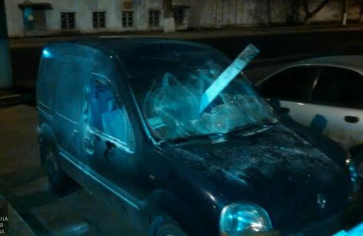 Розбили, ще й підпалили: у Харкові затримали автохуліганів