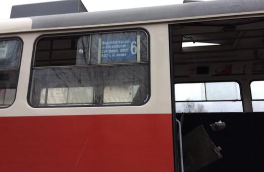 У Московському районі загорівся трамвай