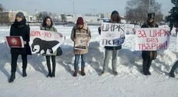 Під Харківським цирком пройшла акція на захист тварин