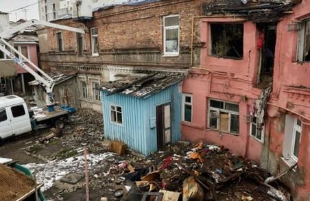 Згорілий будинок у центрі Харкова ховав смертельну небезпеку