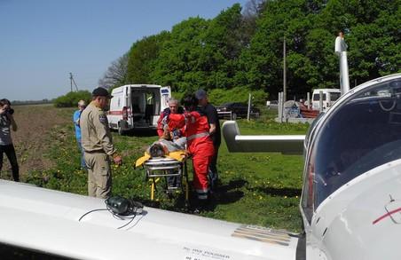 Санітарна авіація у Харківській області за бензин гроші не бере