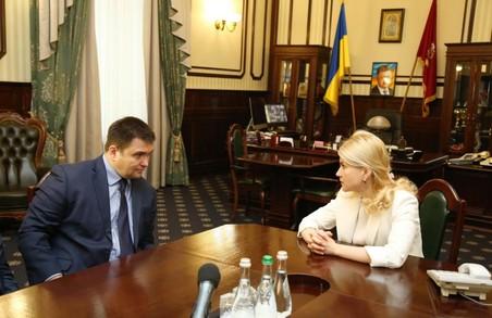 Під час зустрічі зі Світличною Павло Клімкін відзначив потенціал регіону щодо міжнародного співробітництва