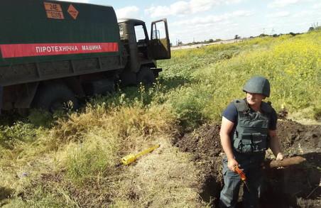 На Харківщині під час обстеження сільгоспугіддя було виявлено близько півтисячі боєприпасів