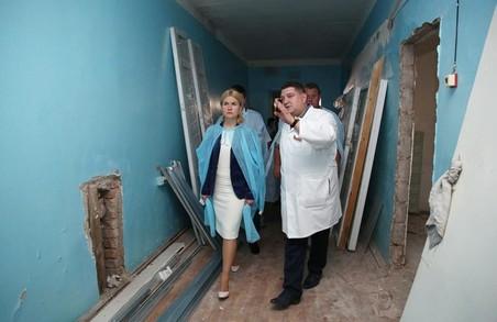 Світлична розповіла про хід  реконструкції в Ізюмській лікарні