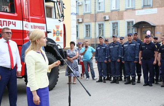 У Красноградському районі Харківської області тепер є новий пожежний автомобіль