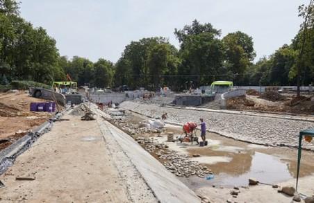 Триває реконструкція саду Шевченка