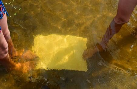 Річка під Харковом змінила колір