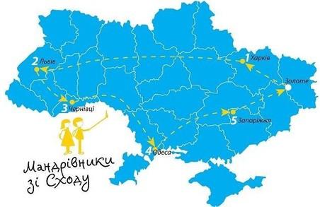Підлітки з прифронтової зони розпочинають подорож Україною