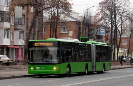 Деякі харківські тролейбуси курсують за зміненим маршрутом