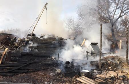 У Харкові горіли господарчі споруди та відходи лісу (ФОТО, ВІДЕО)
