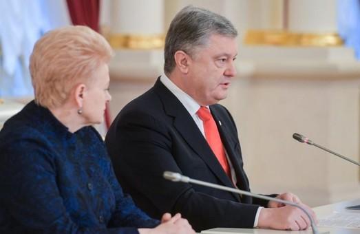 Україна і Литва спільно діятимуть, щоб ціна за агресію для РФ зростала - Порошенко