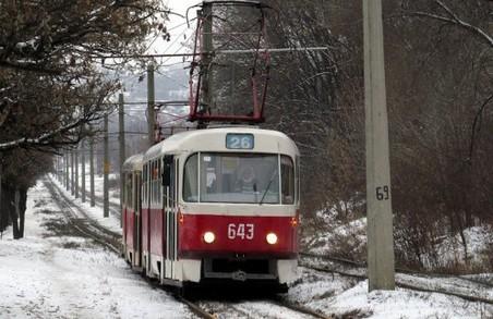 Трамвай №26 частково відновив рух Харковом
