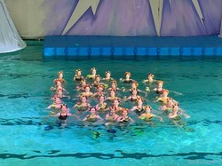 В басейні «Локомотив» стартували новорічні ялинки на воді (ФОТО)