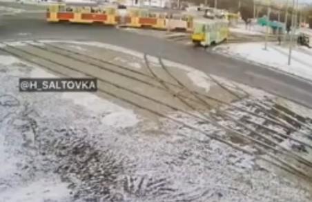 У Харкові зіткнулися два трамвая (ВІДЕО)