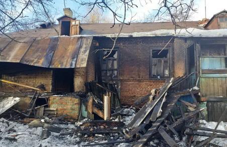 На Харківщині загорівся житловий будинок (фото)