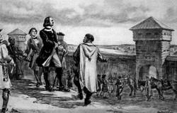Цар Петро І оглядає Харківську фортецю