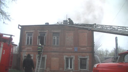 В Харкові загорівся житловий будинок